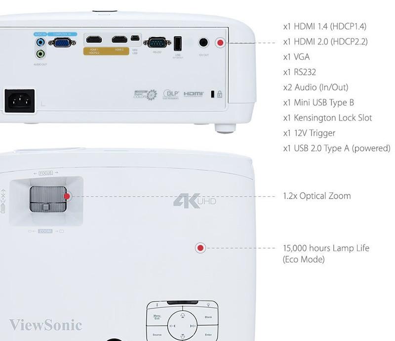 ViewSonic PX727-4K Vidéoprojecteur 4K UHD