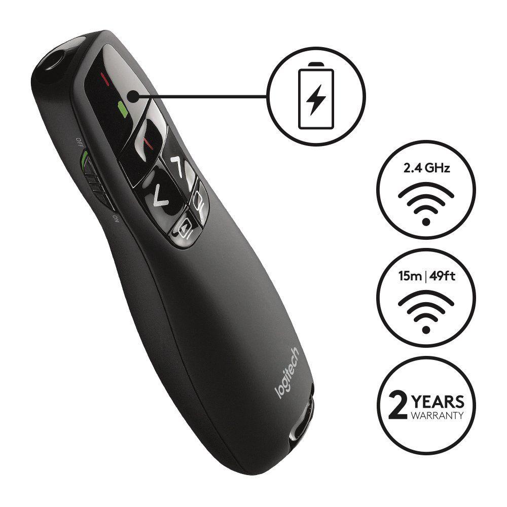 Logitech R400 Télécommande de Présentation sans Fil Noir
