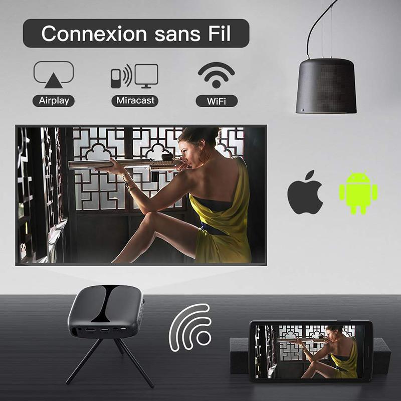 Mini Vidéoprojecteur, ELEPHAS 3D Projecteur 2800 Lumens WiFi DLP - Projecteur Portable