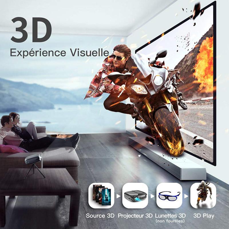 Mini Vidéoprojecteur, ELEPHAS 3D Projecteur 2800 Lumens WiFi DLP Projecteur Portable