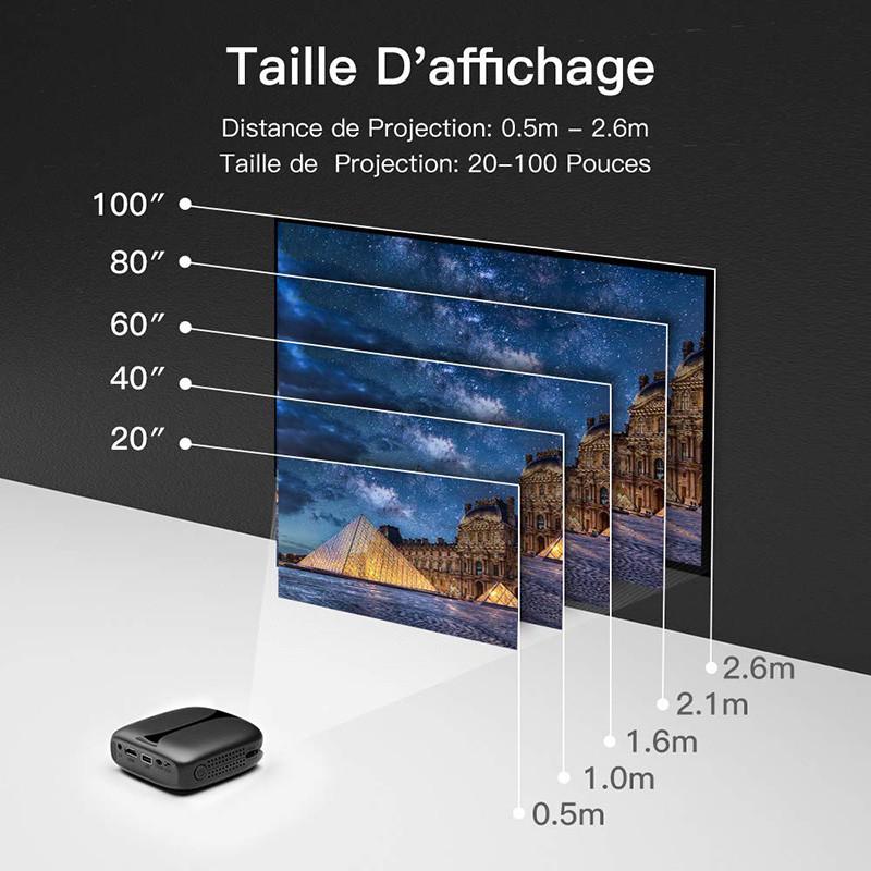 Mini Vidéoprojecteur, ELEPHAS 3D Projecteur 2800 Lumens WiFi DLP pico projecteur