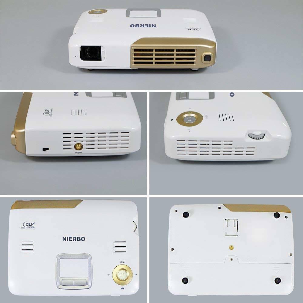 NIERBO Videoprojecteur Interactif Mini Projecteur 3D Full HD 4K