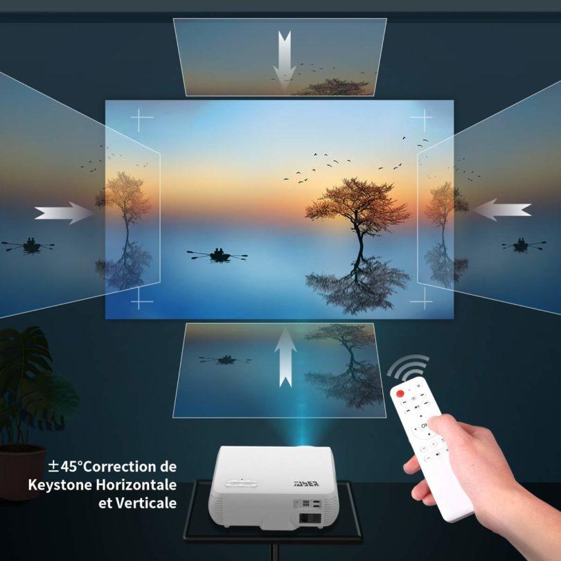 Vidéoprojecteur, YABER 4500 Lumens Full HD 1080P