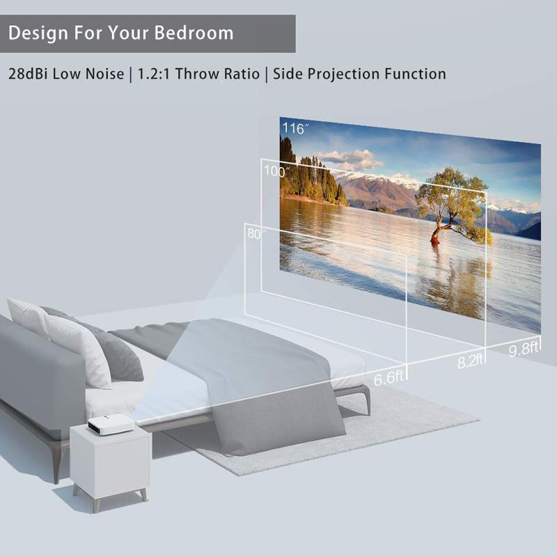 XGIMI Z6 Polar 1080p 4K HD Projecteur Auto Focus 2 - 8 GB LED