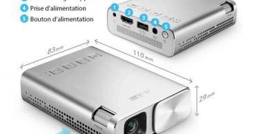 ASUS ZenBeam E1 - Pico Projecteur Mini LED Portable WVGA