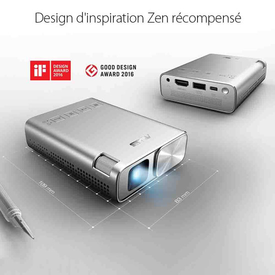 Test ASUS ZenBeam E1 - Pico Projecteur Mini LED Portable WVGA