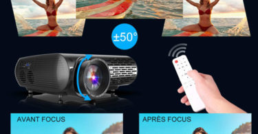 Correction du WiMiUS 5500 Lumens Vidéo Projecteur Full HD