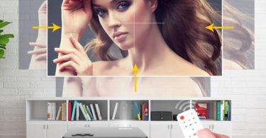 Fonction Zoom du WiMiUS 5500 Lumens Vidéo Projecteur Full HD