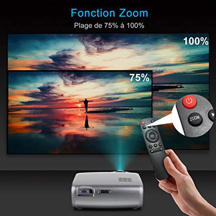 Test WiMiUS 4200 Lumens Vidéo Projecteur Portable