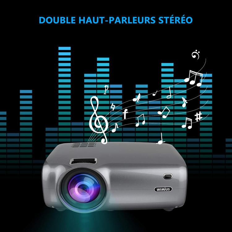 Test et Avis WiMiUS 4200 Lumens Vidéo Projecteur Portable