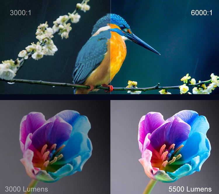 Test image WiMiUS 5500 Lumens Vidéo Projecteur Full HD
