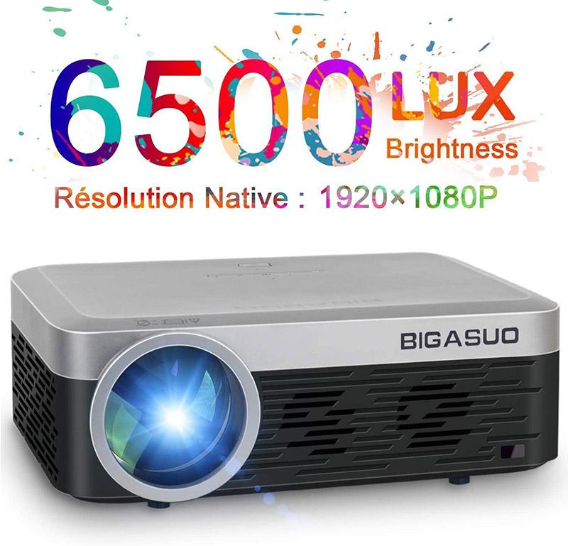 Avis et Test BIGASUO Mini Vidéoprojecteur 1080P Full HD Projecteur Bluetooth