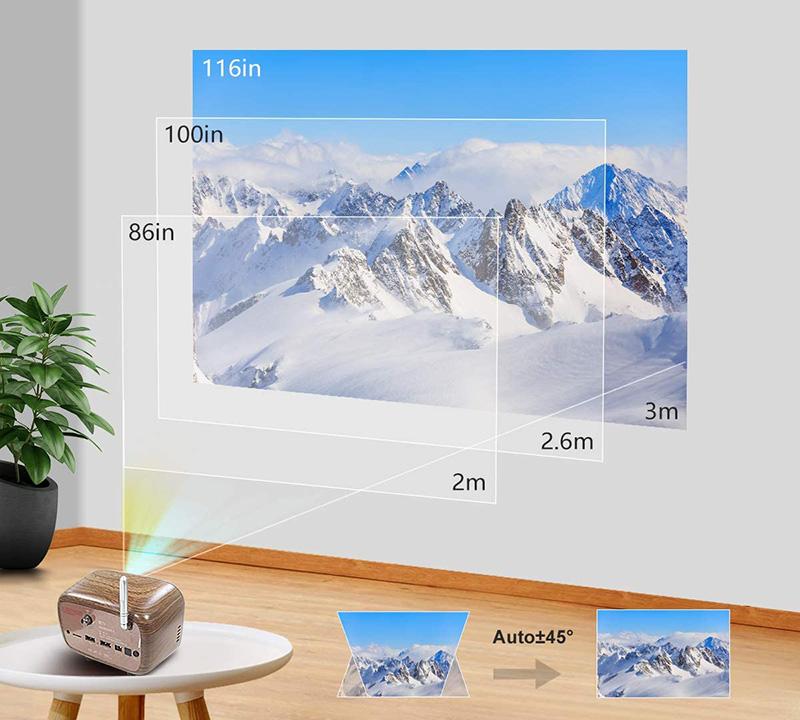 Avis et Test PODOOR Mini Projecteur 150ANSI Lumens Portable Videoprojecteur