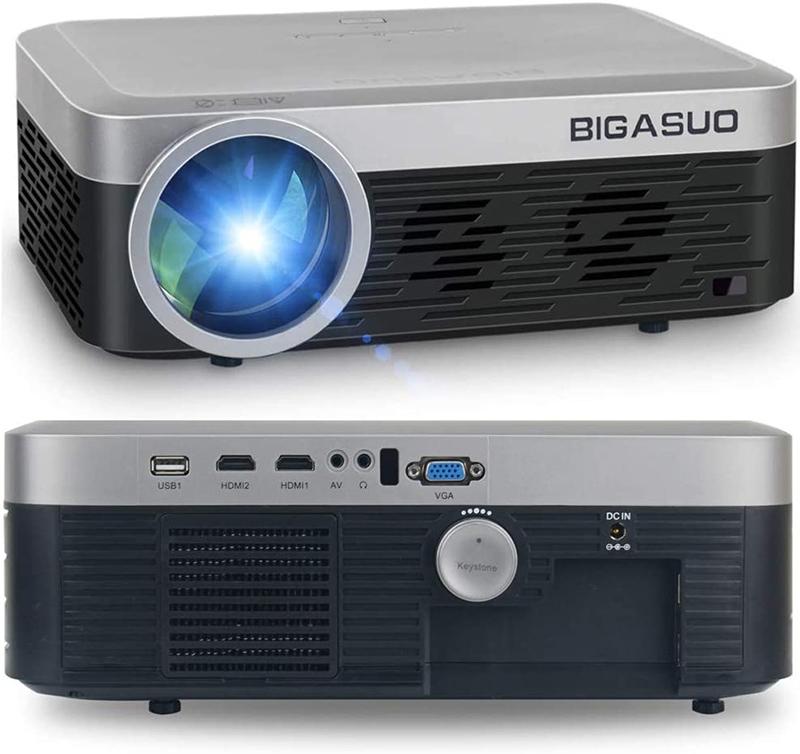 Test BIGASUO Mini Vidéoprojecteur 1080P Full HD Projecteur Bluetooth