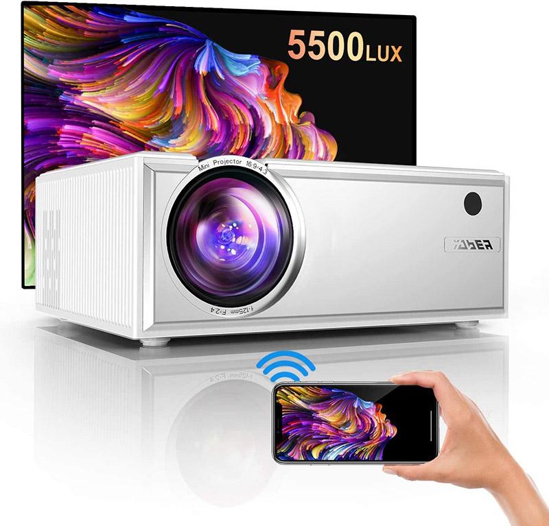 Test YABER Vidéoprojecteur WiFi 5500 Lumens Mini Projecteur 1080P