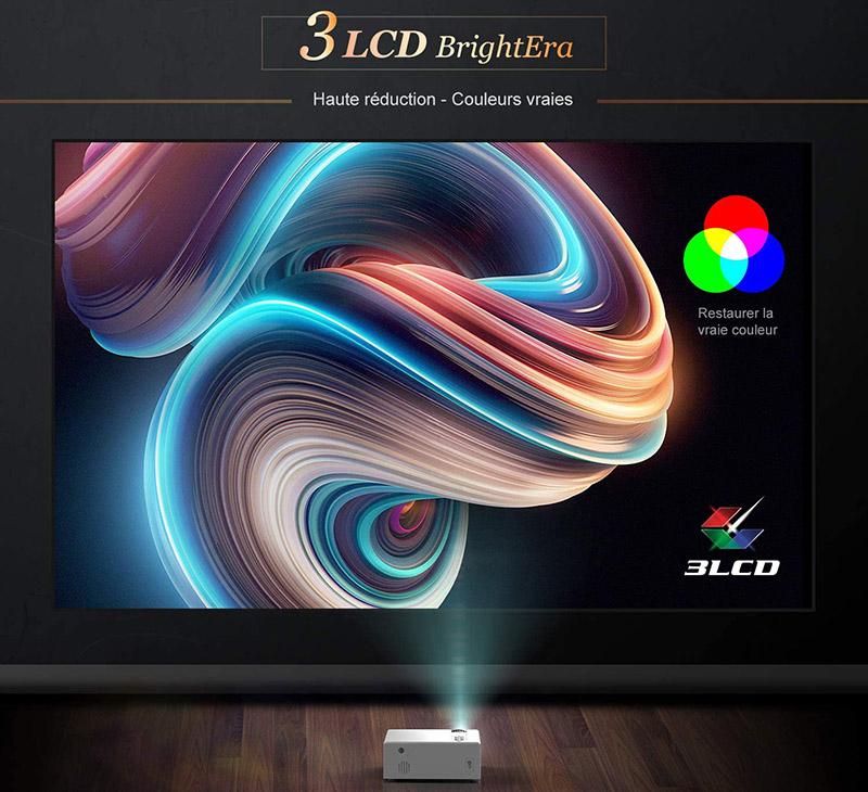 Test picoprojecteur YABER Vidéoprojecteur WiFi 5500 Lumens Mini Projecteur 1080P