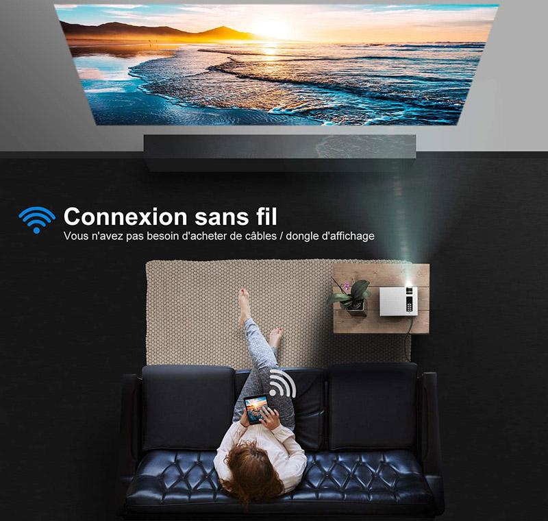 YABER Vidéoprojecteur WiFi 5500 Lumens Mini Projecteur 1080P