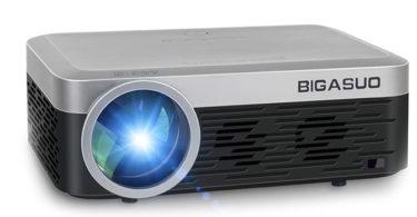 picoprojecteur BIGASUO Mini Vidéoprojecteur 1080P Full HD Projecteur Bluetooth