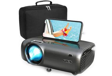 test picoprojecteur FUJSU Mini Projecteur Portable 5500 Lumens Videoprojecteur 1080P Full HD
