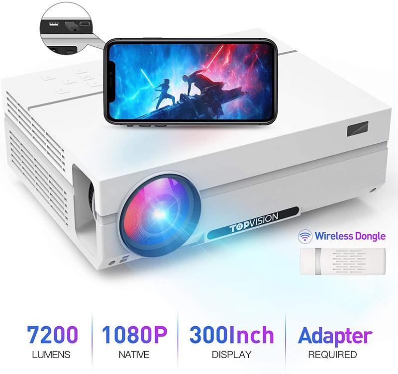 TOPVISION Vidéoprojecteur Portable