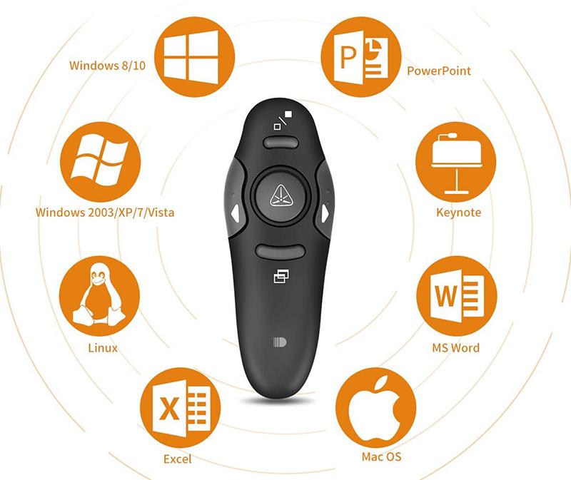 Test Doosl Présentateur sans Fil Ultralight Télécommande de présentation à Distance Professionnelle PowerPoint 2.4GHz