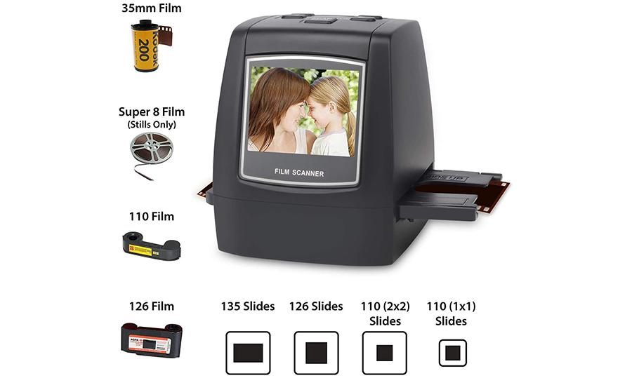 DIGITNOW! Scanner de films et diapositives Tout-en-un 22MP