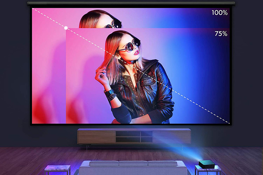Projecteur APEMAN 1080P Natif Full HD Vidéoprojecteur