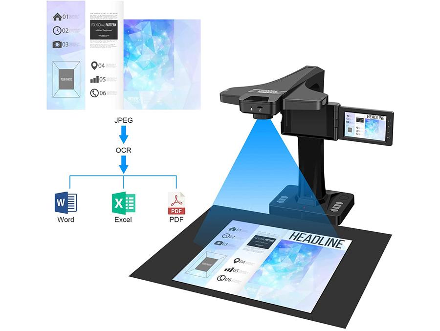 Test DIGITNOW Scanner de Livres Scanner de Document avec Fonction OCR