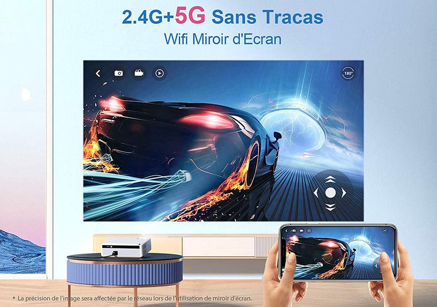 Test VANKYO Videoprojecteur WiFi 7800 Lumens Projecteur 5G WiFi