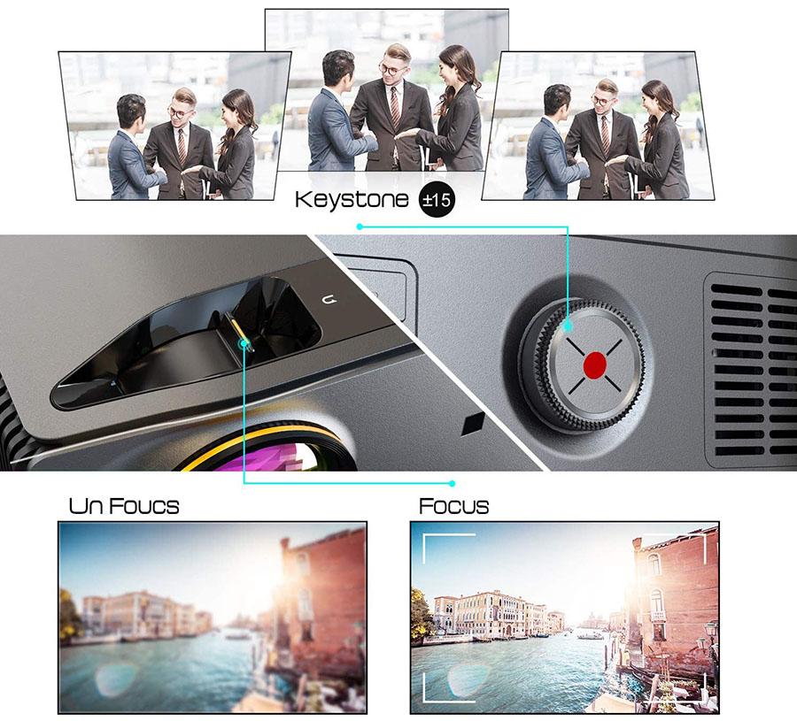 Videoprojecteur Vamvo 300 6500 Lumens 1080P Natif