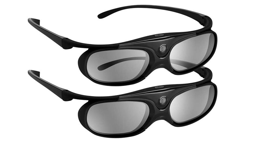 Boblov 3D Lunettes 3D Glasses Active Shutter DLP-Link USB