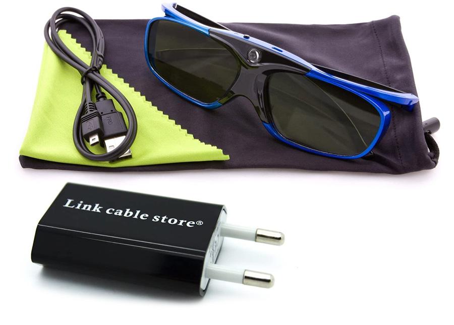 LCS - 2 Paires de lunettes 3D actives DLP-LINK