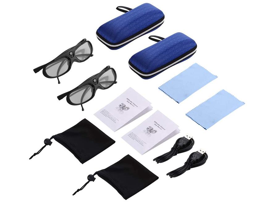 Test Boblov 3D Lunettes 3D Glasses Active Shutter DLP-Link USB