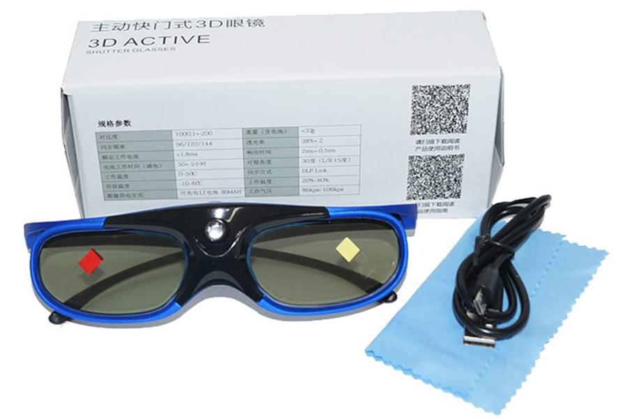 Test Lunettes 3D DLP-Link 96-144Hz Compatible Uniquement avec Les videoprojecteurs 3D