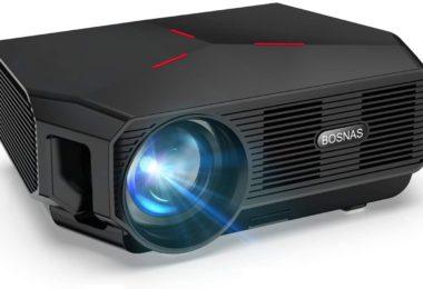 Vidéoprojecteur WiFi BOSNAS Mini Projecteur Portable 5800 Lumens