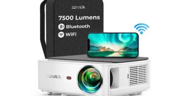 Vidéoprojecteur YABER V6 7500 Lumens WiFi Bluetooth Full HD 1080P
