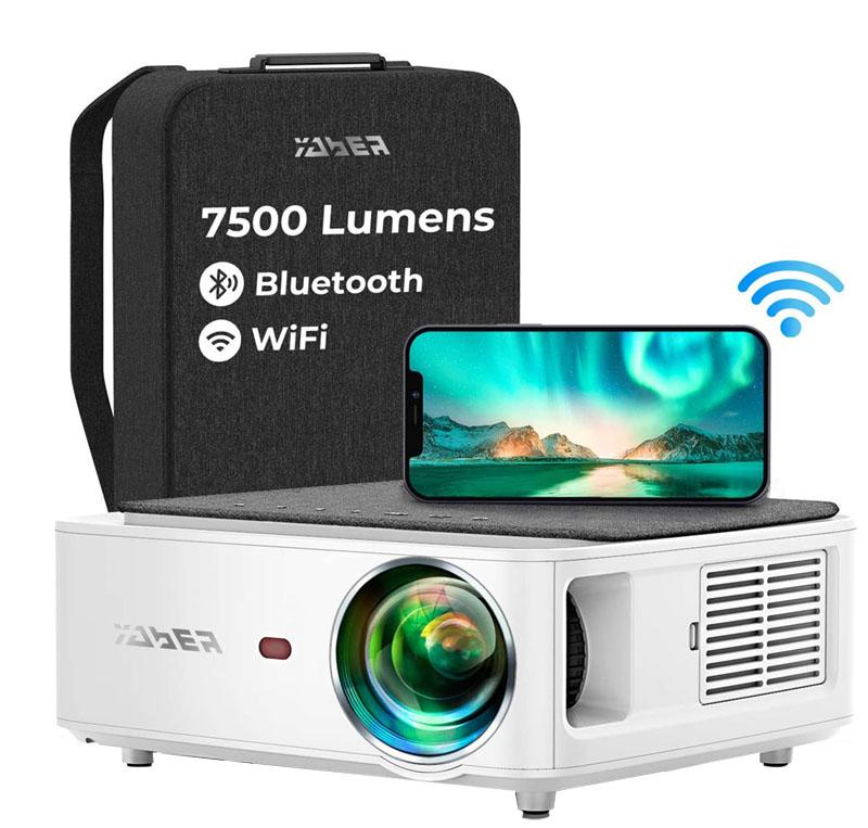 Test et avis - YABER V6 7500 Lumens Projecteur WiFi Portable Soutiens 4K
