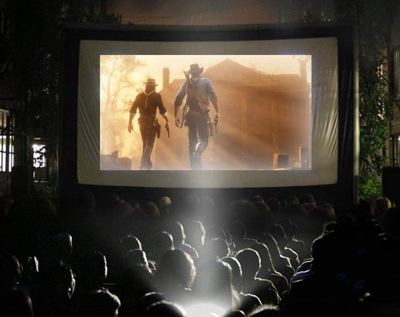 avis - Tcheung Écran de film gonflable pour extérieur de 19 m pour les fêtes en plein air – Écran gonflable TV avec support