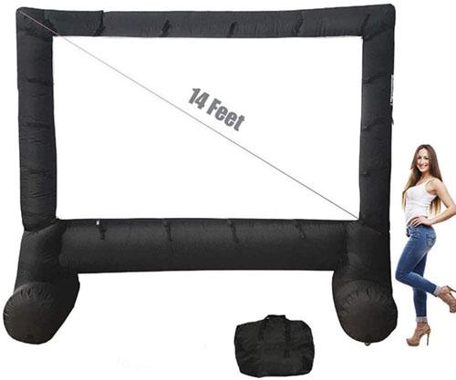 test - Zaizai Écran de cinéma Gonflable 14 Pieds