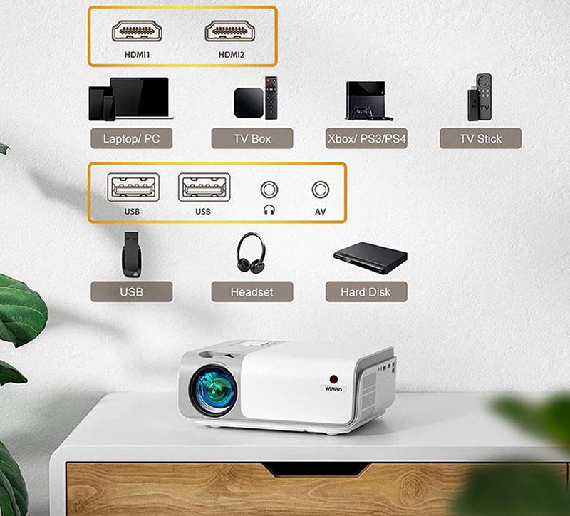 WiMiUS W1 5G WiFi Videoprojecteur Full HD Bluetooth