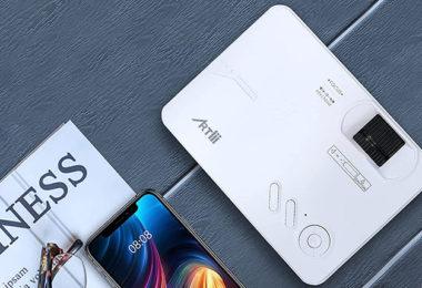test et avis Artlii Enjoy 2 Videoprojecteur WiFi Portable Mini Projecteur Connexion Bluetooth