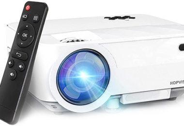 test et avis HOPVISION Vidéoprojecteur Retroprojecteur 6000 Lumens Mini Projecteur 1080P Full HD