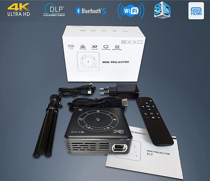 EXXO X2095BM 4K Mini projecteur