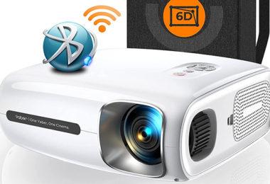 YABER Pro V7 9000L 5G Vidéoprojecteur WiFi Bluetooth Full HD 1080P