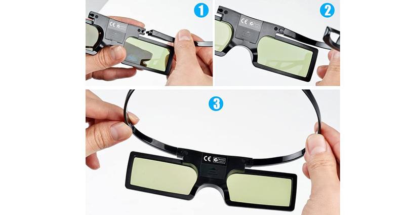 avis Pergear 144 HZ Lunettes 3D Obturateur actif DLP-Link pour projecteur