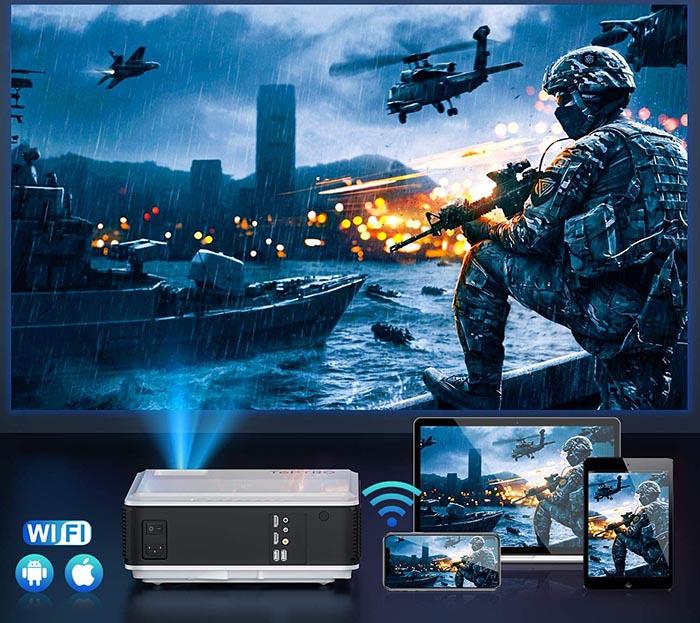 avis TOPTRO 8200 Lumens 5G Vidéoprojecteur WiFi Bluetooth Full HD 1080P