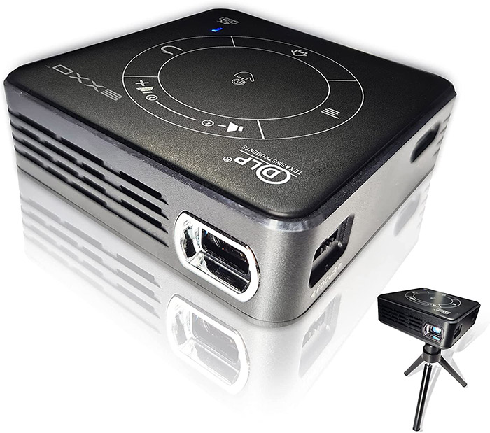 test EXXO X2095BM 4K Mini projecteur 3D HD 1080P Ultra léger 188g