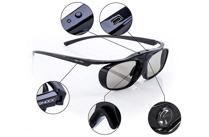 test Hi-SHOCK RF Pro Black Heaven Lunettes actives 3D pour projecteur Full HD-HDR-4k