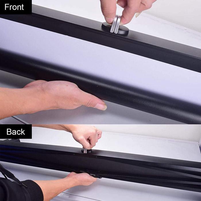 avis Toile Projection, Cocar 40 pouces Ecran Projection Portable Rétractable Pull-Out Style