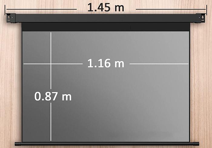 comparatif LJ Écran de Projection motorisé, Vision Super Grand-Angle à 178°